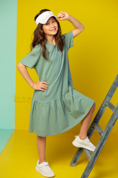 Платье Карина детское, мятный